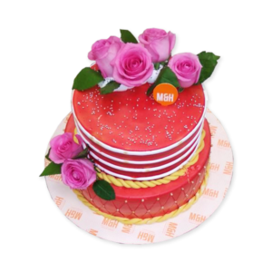 Pink & Red Wedding Cake | Wedding Cake Shop in Lucknow | M&H Bakery By Madhurima