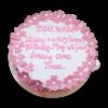 Pink Flower Cake | Best Anniversary Cake Shop | Buy Anniversary Cake Online | M&H Bakery