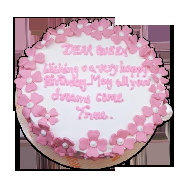 Pink Flower Cake   Best Anniversary Cake Shop   Buy Anniversary Cake Online   M&H Bakery