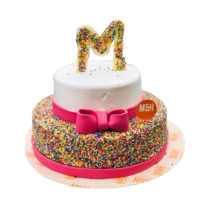 Multicolor Bow Cake | Buy Bow Cake Online | Send Bow Cake Online | M&H Bakery