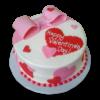 Bow Valentines Day Cake | Valentine Cake Online | Send Valentine Day Cake | M&H Bakery