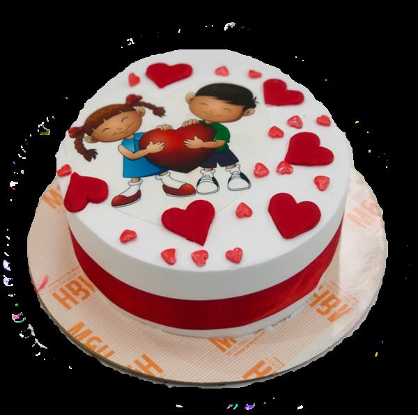 Send Valentine Day Cakes to Lucknow | Valentines Cake Delivery | Milk & Honey