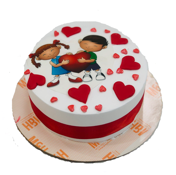 Astounding Send Valentine Day Cakes To Lucknow Valentines Cake Delivery Personalised Birthday Cards Rectzonderlifede