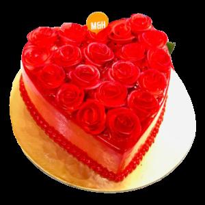 Red Rose Cake | Buy Red Rose Cake Online | Valentine Day Cakes